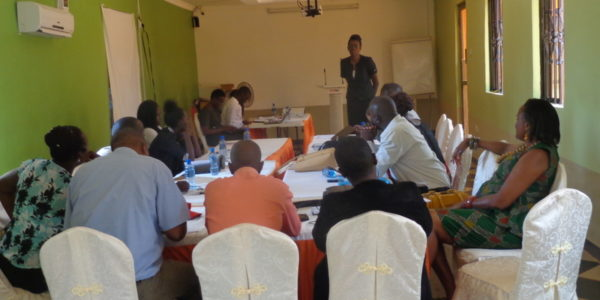 A stake holders meeting discussing child protection