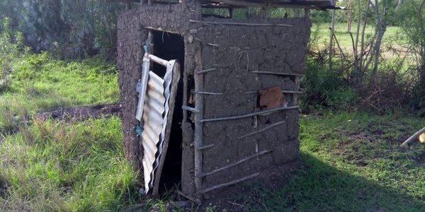 Miruka's latrine facility before