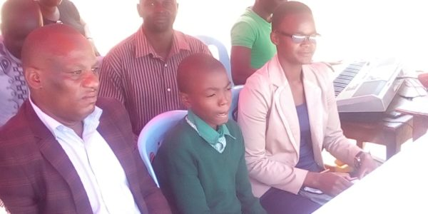 Moses Odhiambo a child supported by the project was the child chief guest during the world orphans day